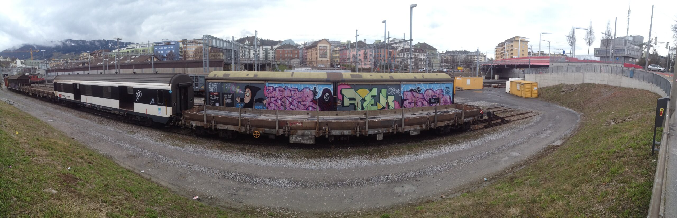 Graffiti Bahnhof Luzern